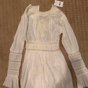 Free People White/Ivory Dress. Size 4.